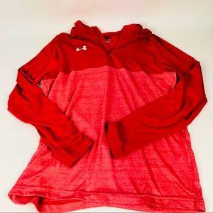 Under Armour Tech 1/4 Hoodie Shirt Men's S Red